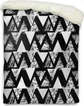 Motif gras peint à la main avec des triangles Housse de couette