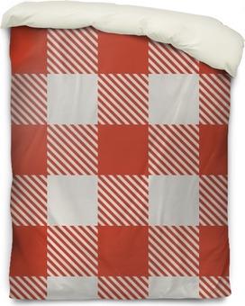 Housse de couette Rouge et blanc sans soudure modèle vectoriel nappe.