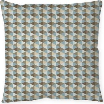 Abstract retro geometric pattern Housse de coussin
