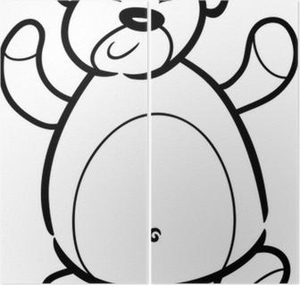 Boyama Kitabi Icin Oyuncak Ayi Karikatur Tuval Baski Pixers