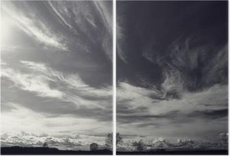 İki Parçalı Siyah ve beyaz fotoğraf sonbahar manzara