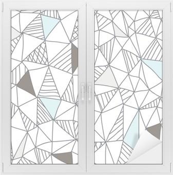 Abstrakti saumaton doodle kuvio Ikkuna- Ja Lasitarra