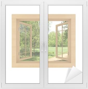 Ikkuna näkymä eristetty valkoinen Ikkuna- Ja Lasitarra