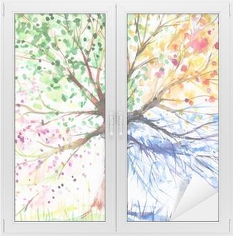 Neljän kauden puu Ikkuna- Ja Lasitarra