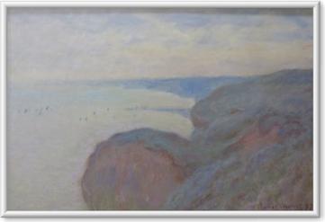 Image encadrée Claude Monet - Falaises près de Dieppe