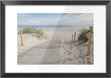 Image Encadrée Un chemin vers la plage