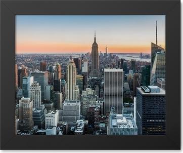 Immagine in Cornice New York Skyline al tramonto