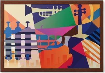 Immagine in Cornice Poster jazz astratta, musica di sottofondo