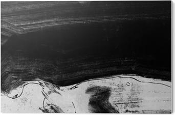 Impressão em Acrílico Mão de preto e branco pintado textura de fundo com pinceladas de grunge