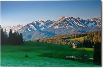 Impressão em Alumínio (Dibond) Polish Tatra mountains panoram in the morning