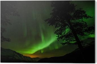 Impressão em PVC Aurora Borealis (Northern lights) in Sweden