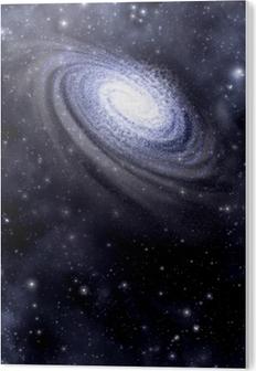 Impressão em PVC Galaxy and starfield background
