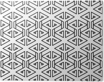 Impressão em PVC Teste padrão geométrico abstrato travesseiro de moda moderno preto e branco