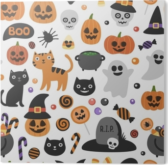 Papel De Parede Vetor Padrao De Halloween Bonito Sem Costura