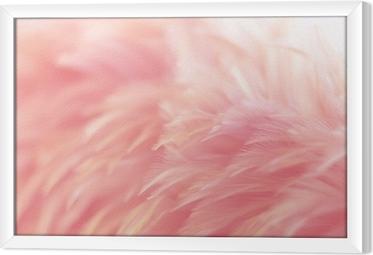 Blur fugl kyllinger fjer tekstur til baggrund, fantasi, abstrakt, blød farve af kunst design. Indrammet fotolærred