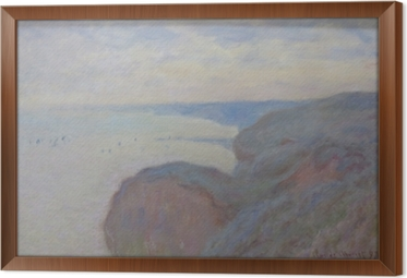 Claude Monet - Steef Cliffs nær Dieppe Indrammet fotolærred