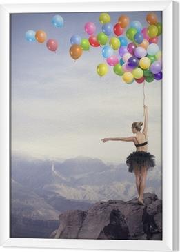 Danser med balloner Indrammet fotolærred