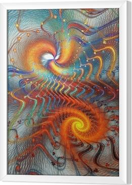 Fractal spiral baggrund Indrammet fotolærred