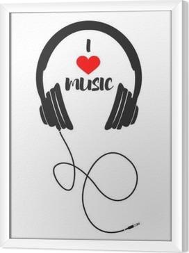 Jeg elsker musik Indrammet fotolærred