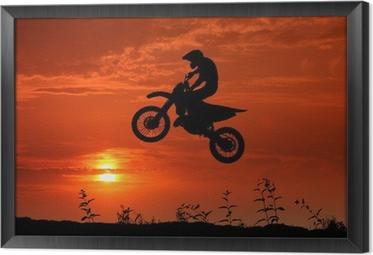Motocross im Sonnenuntergang Indrammet fotolærred