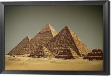 Pyramider - Gizeh / Egypten Indrammet fotolærred
