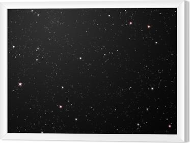 Stjerneklar nat Indrammet fotolærred