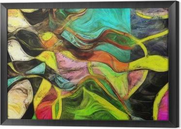 Swirling Shapes, Color and Lines Indrammet Fotolærred