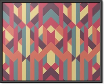 Abstrakt retro geometrisk mønster Indrammet plakat