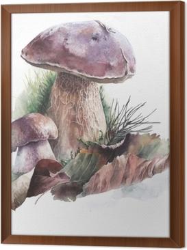 Ingelijst Canvas Акварельные грибы