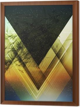 Ingelijst Canvas Abstract driehoek toekomst vector achtergrond