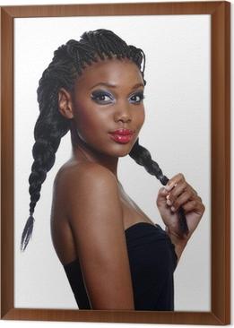 Fotobehang Afrikaanse Mooie Vrouw Met Vlechten Pixers We Leven