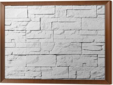Stenen Muur Wit : Sticker bakstenen muur wit u2022 pixers® we leven om te veranderen