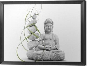 Ingelijst Canvas Boeddha en Welzijn