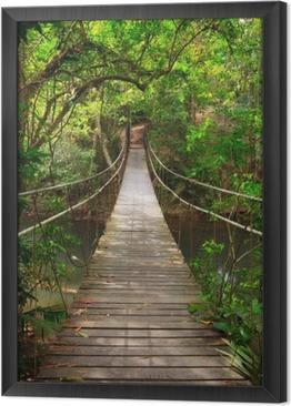 Ingelijst Canvas Brug naar de jungle, Khao Yai National Park, Thailand