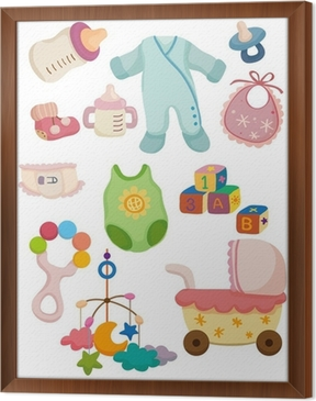 Spullen Voor Baby.Fotobehang Cartoon Baby Spullen Icon Pixers We Leven Om Te