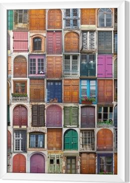 Ingelijst Canvas Deuren en ramen collage