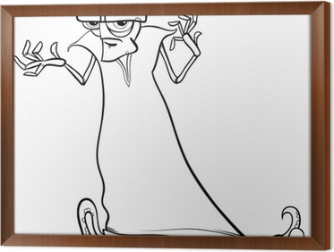 Evil Alien Cartoon Coloring Page Wall Mural Pixers We Live To