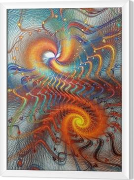Ingelijst Canvas Fractal spiraal achtergrond