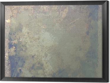 Ingelijst Canvas Grunge kleurrijke achtergrond. Met verschillende kleurpatronen: geel (beige); bruin; blauw; grijs