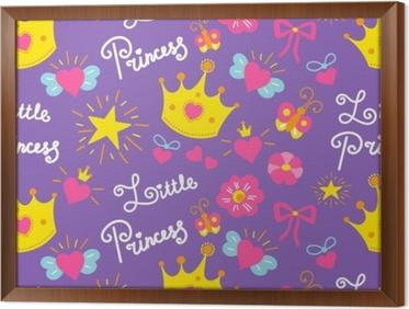 Babykamer Behang Sterren : Fotobehang kleine prinses patroon vector. schattig meisje