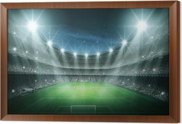 Ingelijst Canvas Licht van Stadion