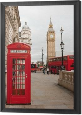 Ingelijst Canvas Londen, Engeland