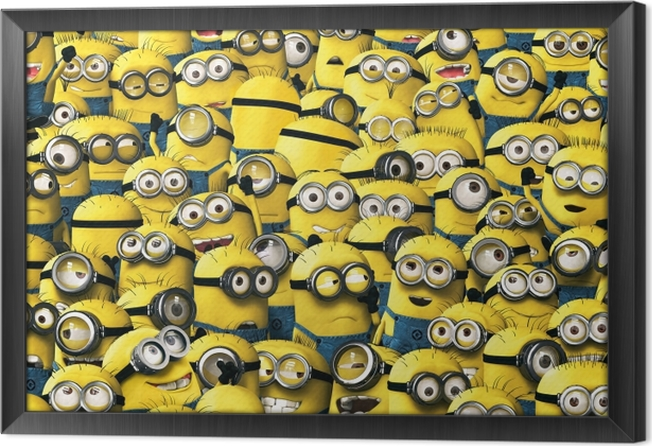 Ingelijst Canvas Minions - Thema's
