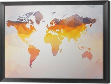 Ingelijst Canvas Moderne concept van de wereldkaart vector