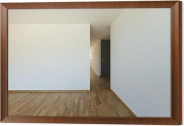 Fotobehang Mooi nieuw appartement, interieur, lege kamer • Pixers ...
