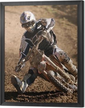 Ingelijst Canvas Motocross