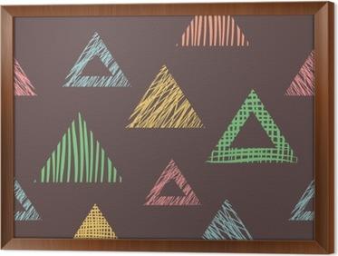 Kleurrijke Interieurs Pastel : Fotobehang naadloze vector geometrisch patroon met driehoeken