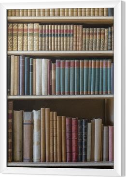 Ingelijst Canvas Oude boeken