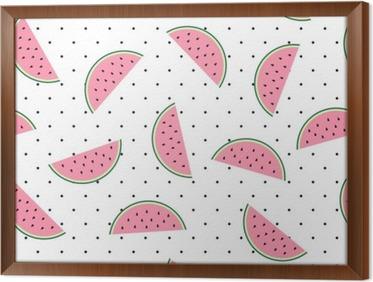 Behang Met Stippen : Fotobehang plakken van de watermeloen naadloze patroon op een witte