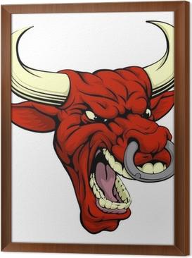 Ingelijst Canvas Red Bull mascotte